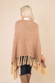 Simply Noelle Striped Fringe Poncho - Side cropped