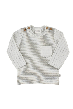 Shoptiques Product: Striped Front Pocket Top