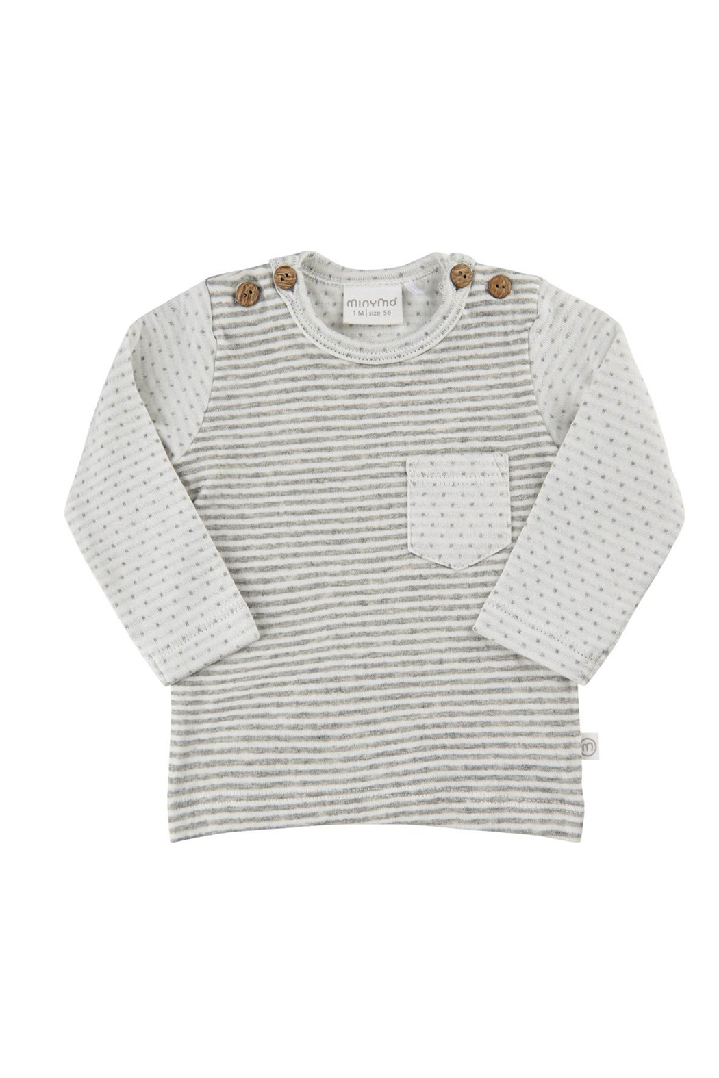 Minymo Striped Front Pocket Top - Main Image