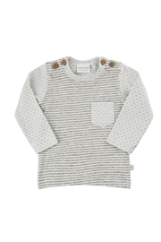 Minymo Striped Front Pocket Top - Front cropped