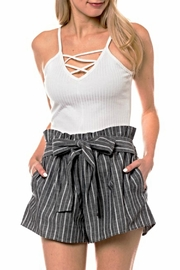 Love Tree Striped Front-Tie Detail - Product Mini Image