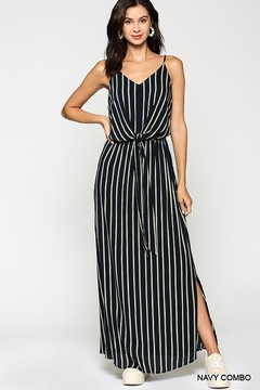 Gigio/BluHeaven Striped Front Tie Maxi Dress - Product List Image