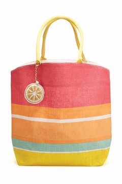 Shoptiques Product: Striped Fuchsia Tote
