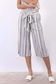 Final Touch Striped Gaucho Pants - Product Mini Image