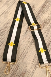Ahdorned Striped Gold Bee Bag Strap White - Product Mini Image