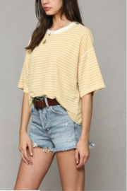 By Together Striped Hacci Top - Side cropped