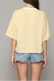 By Together Striped Hacci Top - Back cropped