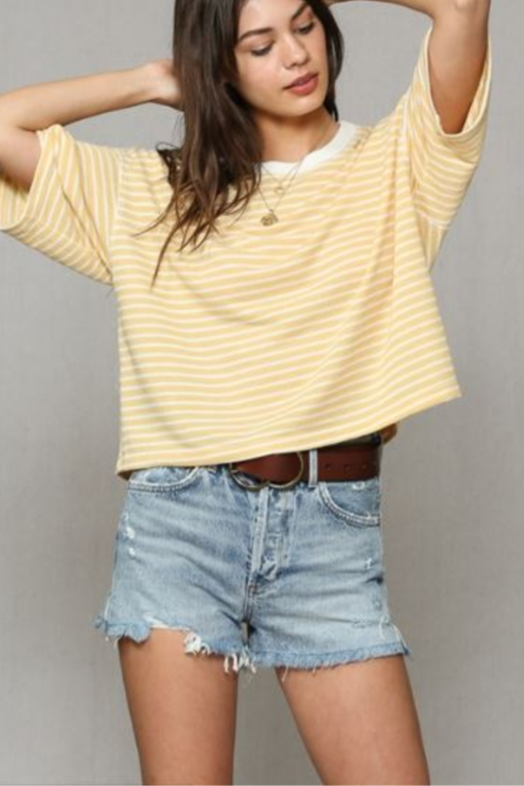 By Together Striped Hacci Top - Front Full Image