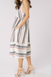 Cezanne Striped Halter Dress - Front full body
