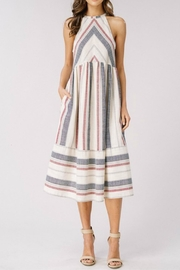 Cezanne Striped Halter Dress - Front cropped