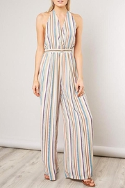 Mustard Seed Striped Halter Jumpsuit - Product Mini Image