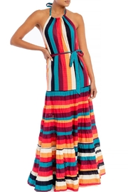 luxxel Striped Halter Maxi - Product Mini Image