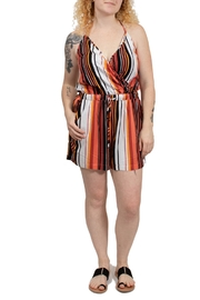 Volcom Striped Halter Romper - Product Mini Image