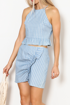 Everly Striped Halter Set - Product List Image