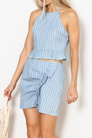 Everly Striped Halter Set - Product Mini Image