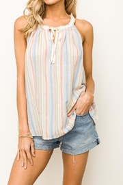 Hem & Thread Striped Halter Tank - Product Mini Image