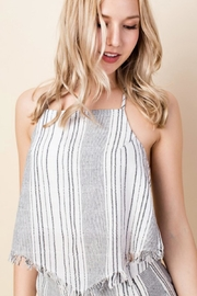 Honey Punch Striped Halter Top - Product Mini Image