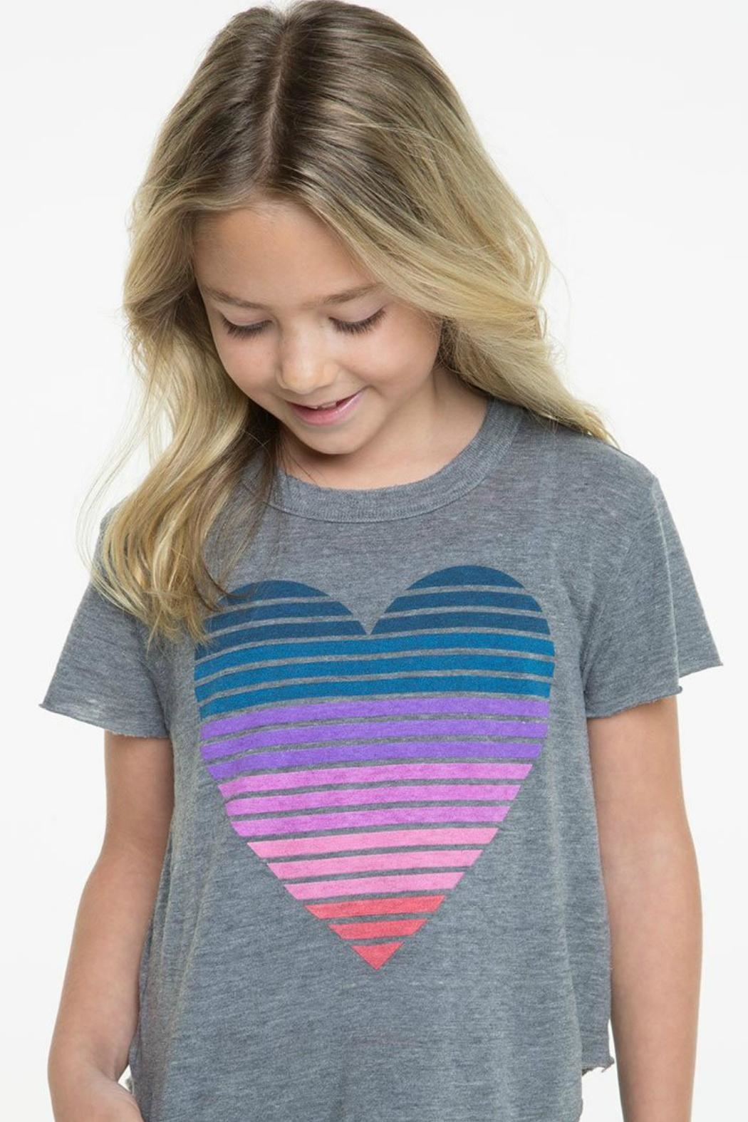 Chaser Striped Heart Tee - Main Image