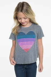 Chaser Striped Heart Tee - Front cropped