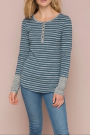 LuLu's Boutique Striped Henley - Product Mini Image