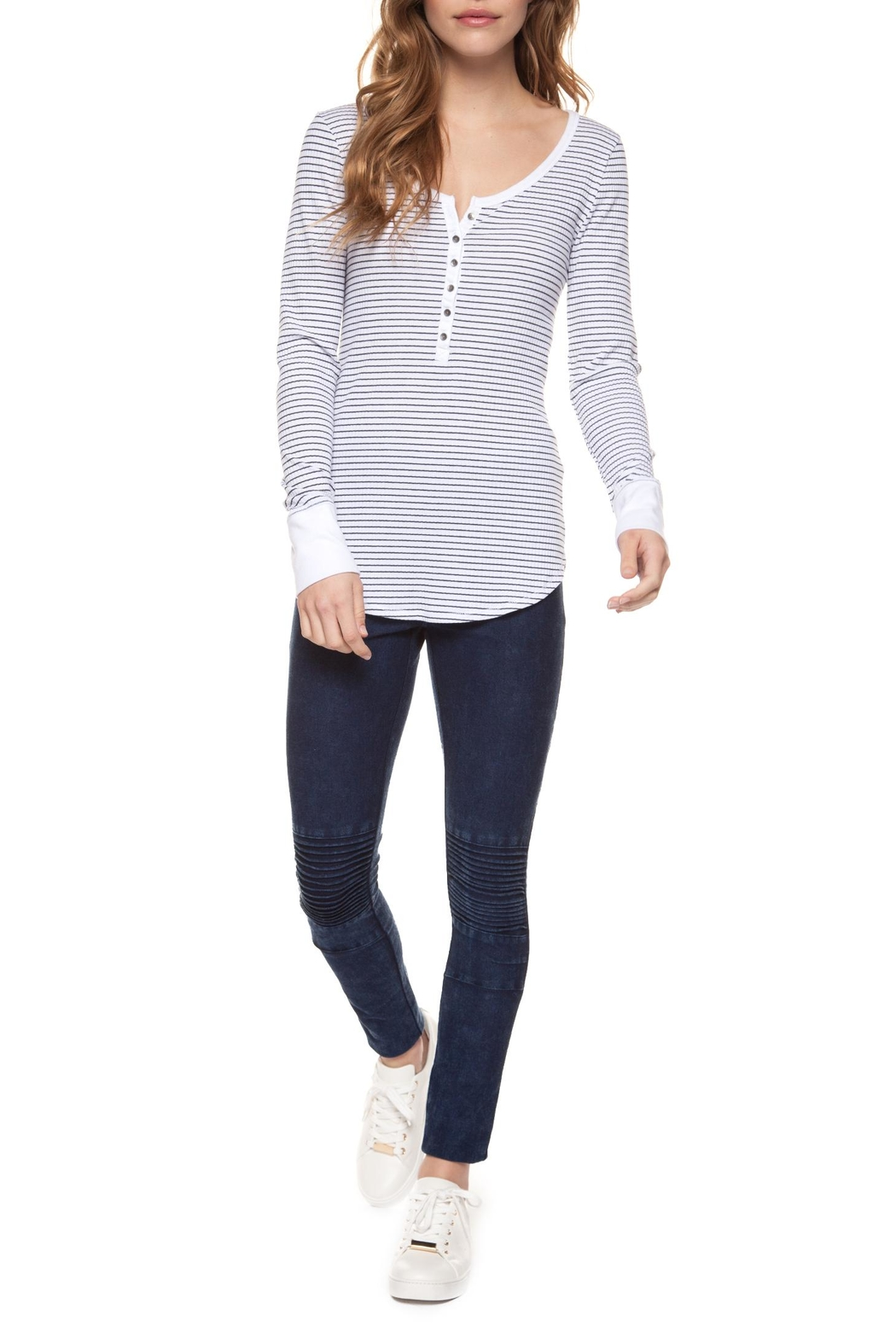 Dex Striped Henley - Side Cropped Image