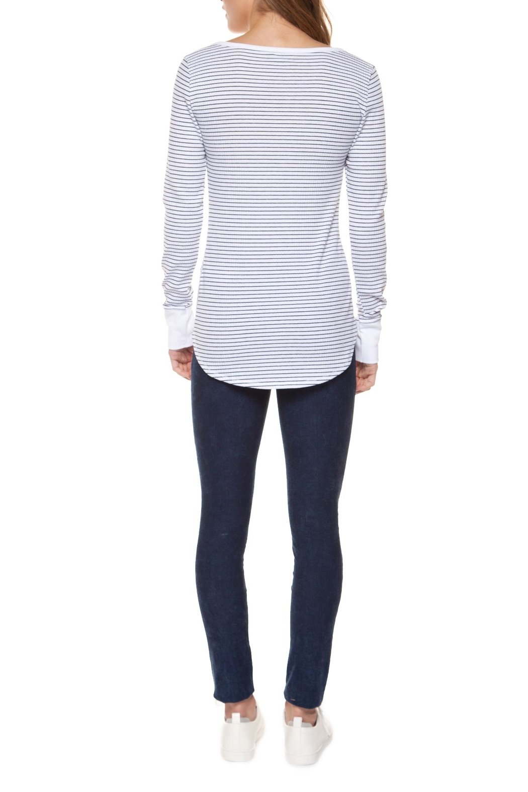 Dex Striped Henley - Front Full Image