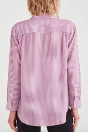 7 For all Mankind Striped High Low Tie Front Shirt - Side cropped