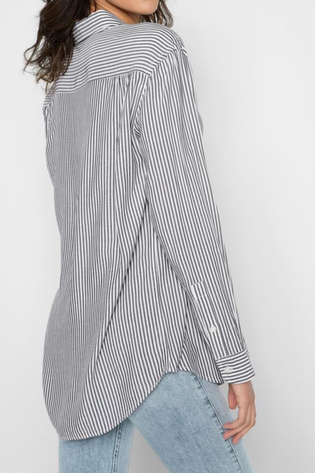 For All Mankind Striped High Low-Tie - Front Full Image