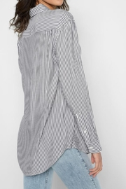 For All Mankind Striped High Low-Tie - Front full body