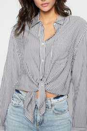 For All Mankind Striped High Low-Tie - Product Mini Image
