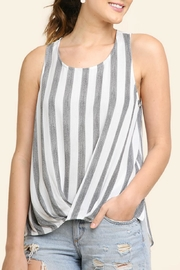 Umgee USA Striped High-Low Top - Product Mini Image