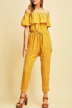 Entro Striped Highwaisted Jumpsuit - Product List Image