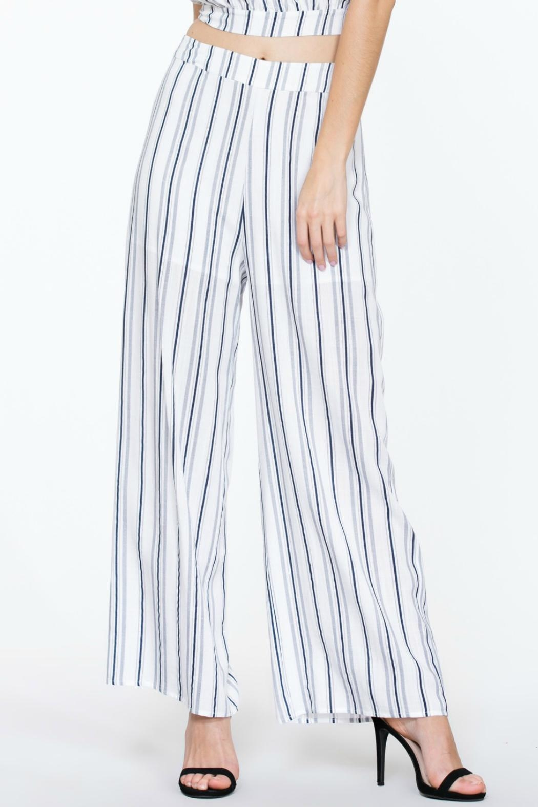 The Room Striped Highwaisted Pant - Main Image