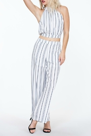 The Room Striped Highwaisted Pant - Back cropped