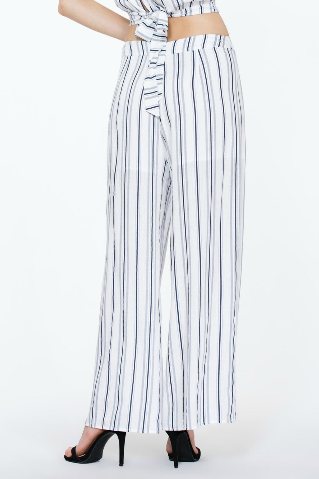 The Room Striped Highwaisted Pant - Front Full Image