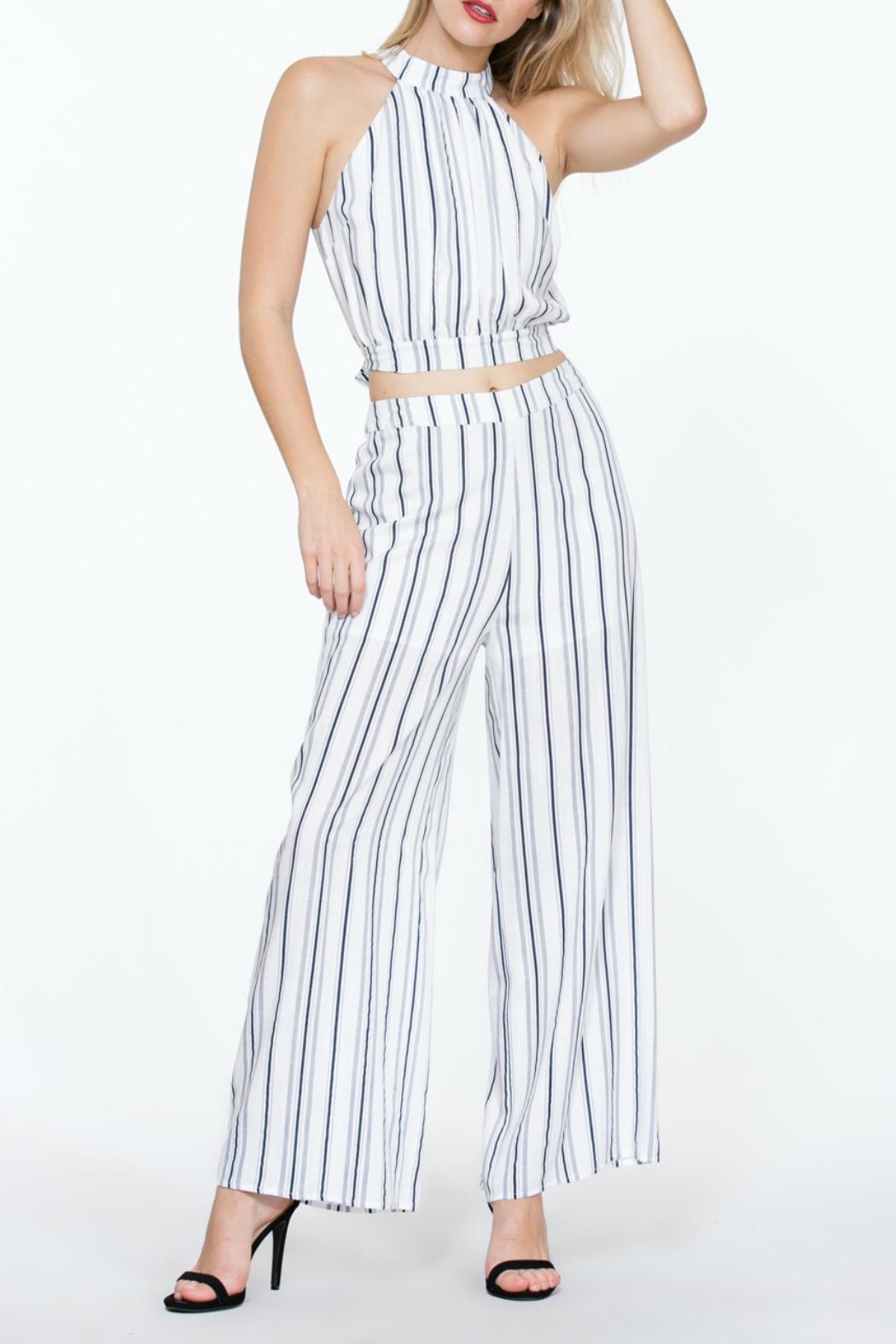 The Room Striped Highwaisted Pant - Side Cropped Image