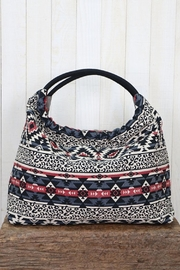 Lovestitch Striped Hobo Bag - Front full body