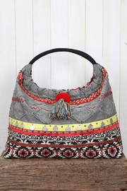 Lovestitch Striped Hobo Bag - Front cropped