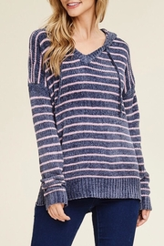LuLu's Boutique Striped Hooded Sweater - Product Mini Image