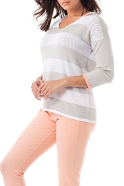 Angel Apparel Striped Hooded Top - Product Mini Image