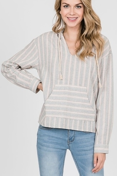Shoptiques Product: Striped Hoodie