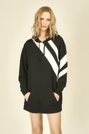 Vintage Havana  Striped Hoodie Sweatshirt Dress - Product Mini Image