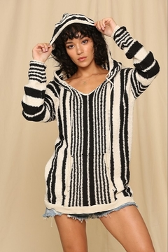 By Together  Striped Hoodie Top - Product List Image