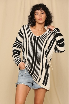 By Together  Striped Hoodie Top - Alternate List Image