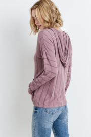 Paper Crane Striped hoodie top with kangaroo pocket - Product Mini Image