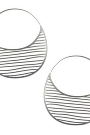 Daphne Olive Striped Hoops - Product Mini Image