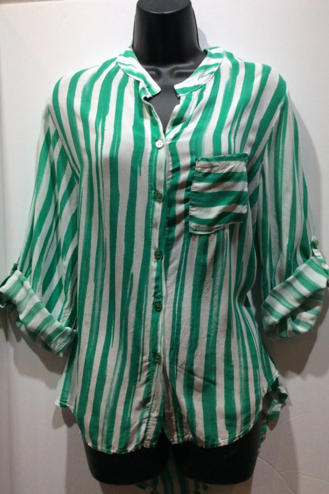 Made in Italy Striped Italian Blouse - Main Image
