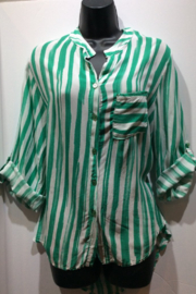 Made in Italy Striped Italian Blouse - Front cropped