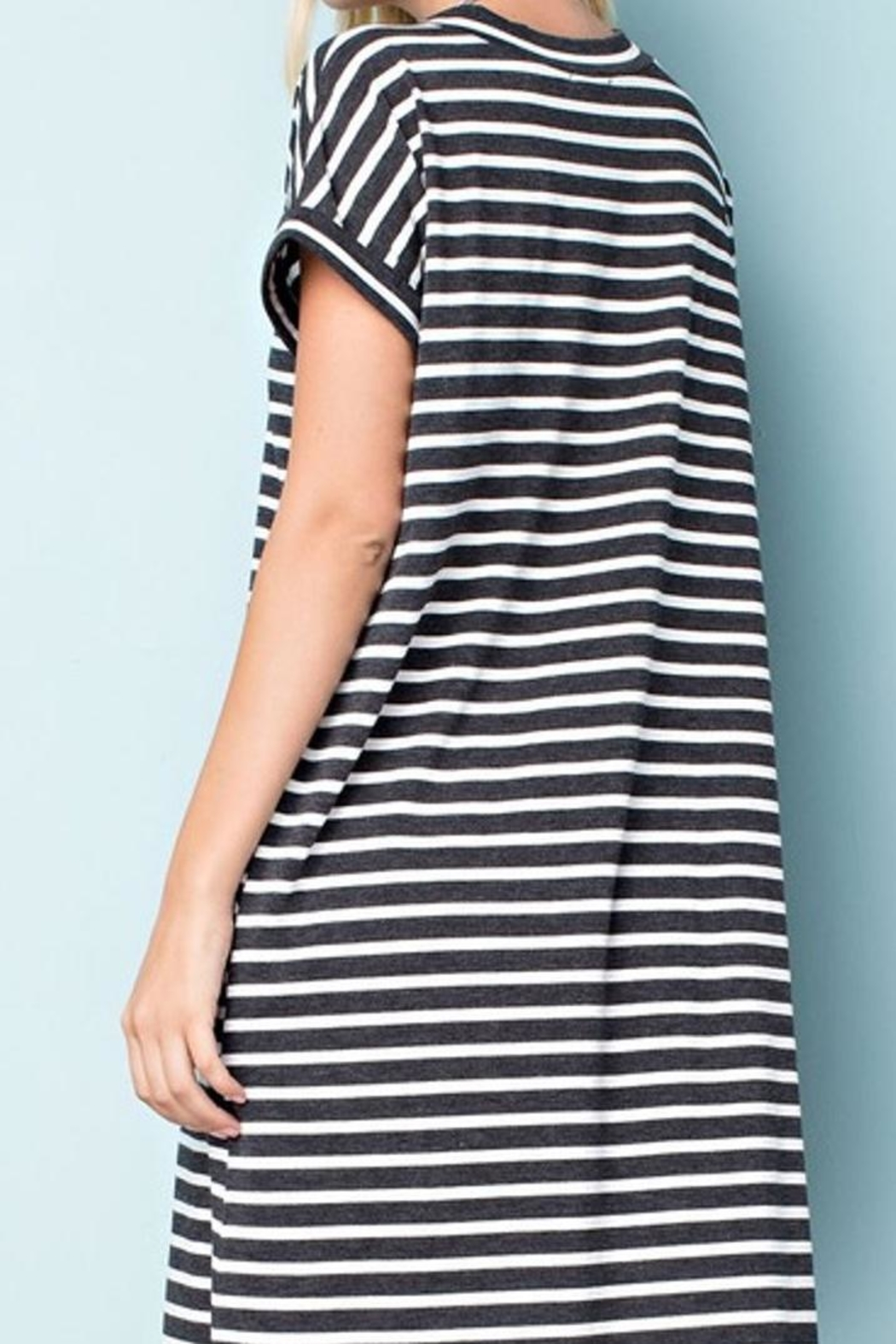 143 Story Striped Jersey Dress - Front Full Image