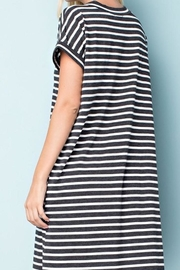 143 Story Striped Jersey Dress - Front full body